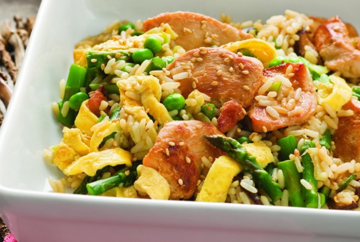Stir-Fried Chicken and Rice with Spring Vegetables