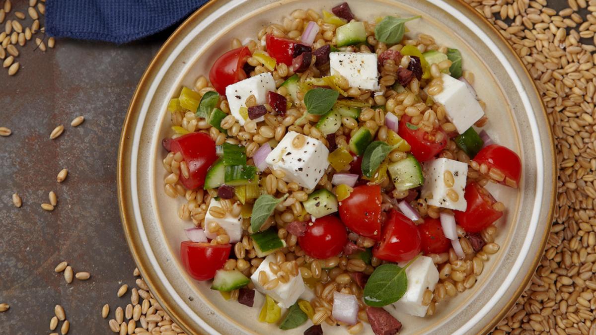 Greek Wheat Berry Salad