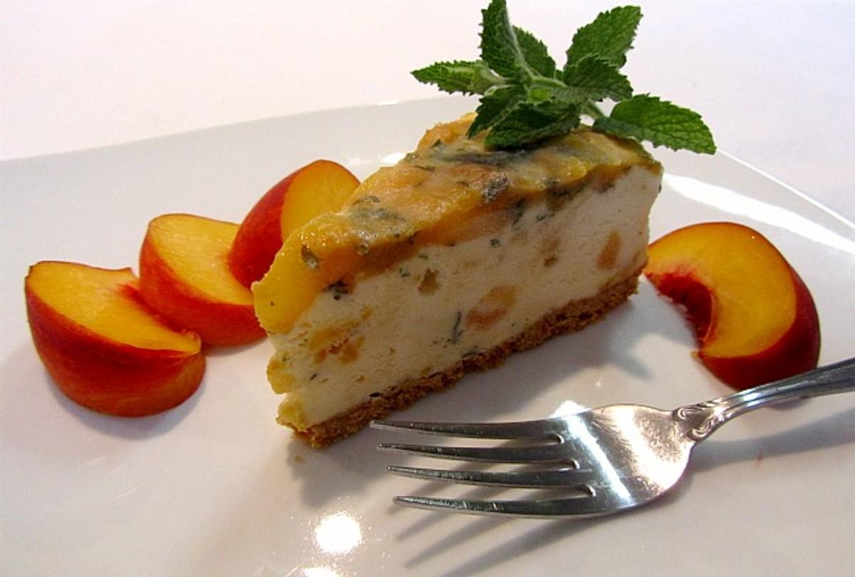 Sauteed PeachIce Cream Torte