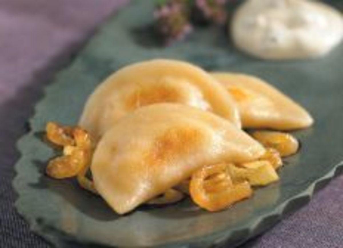 Idaho® Potato and Goat Cheese Pierogies