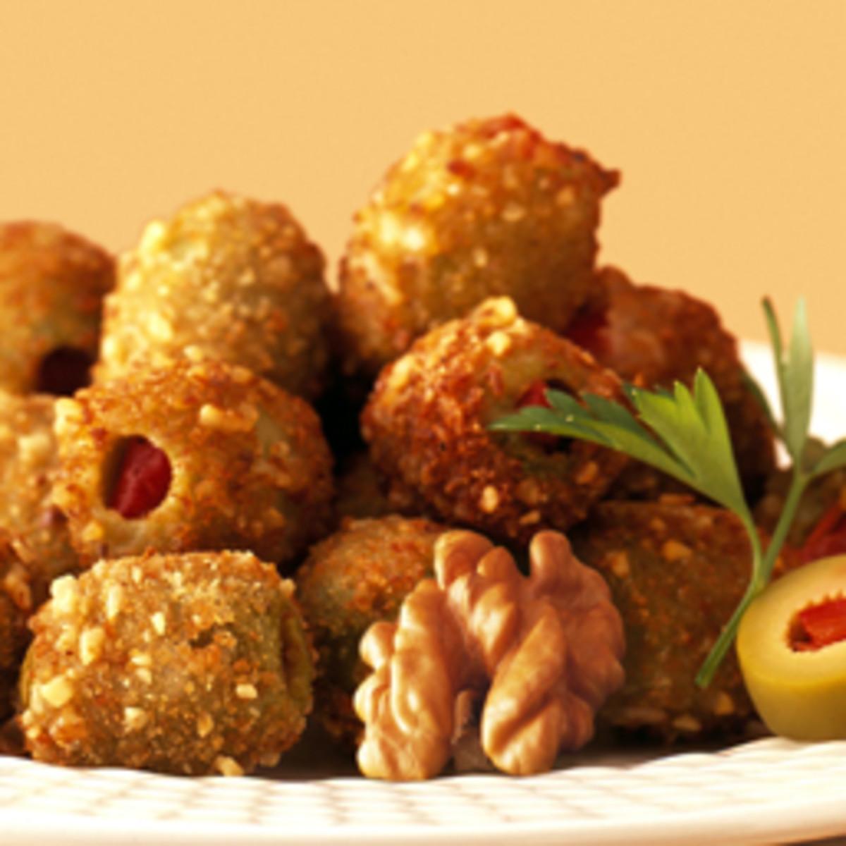Charlie Palmer's Walnut Coated Crisp Olives