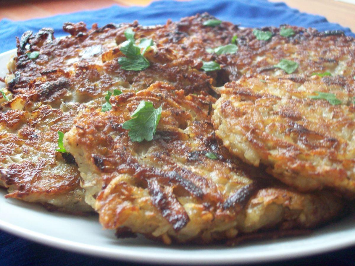 French Onion Potato Latkes