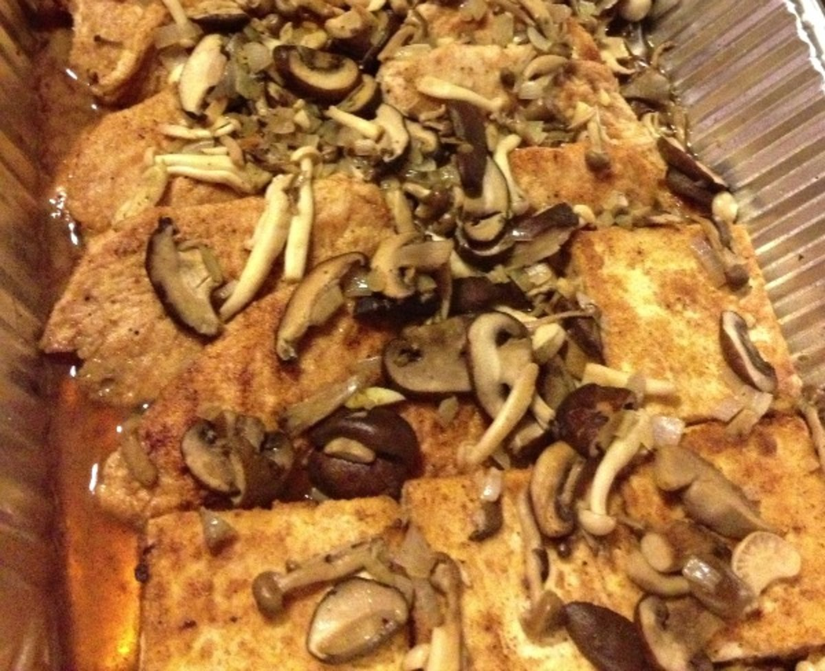 chicken or tofu marsala