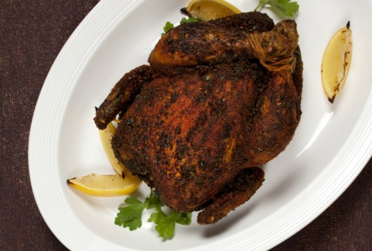 Roasted Chicken in Dry Spice Rub