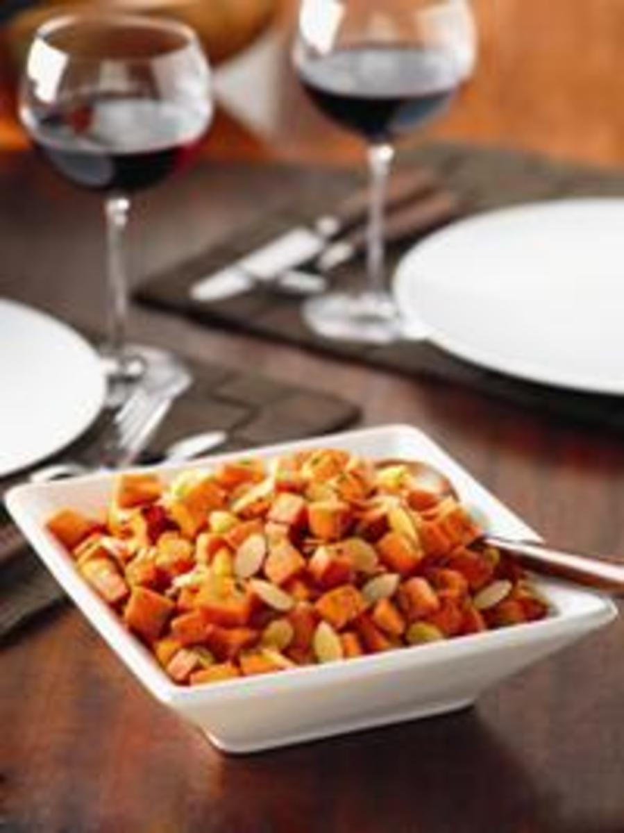 Roasted Almond Sweet Potatoes