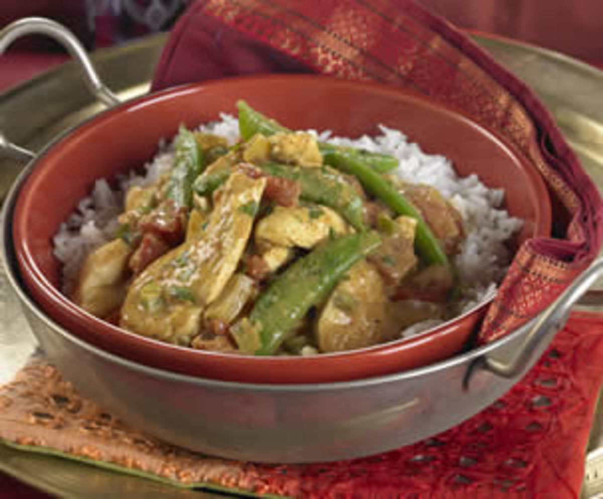 Chicken and Sugar Snap Pea Curry
