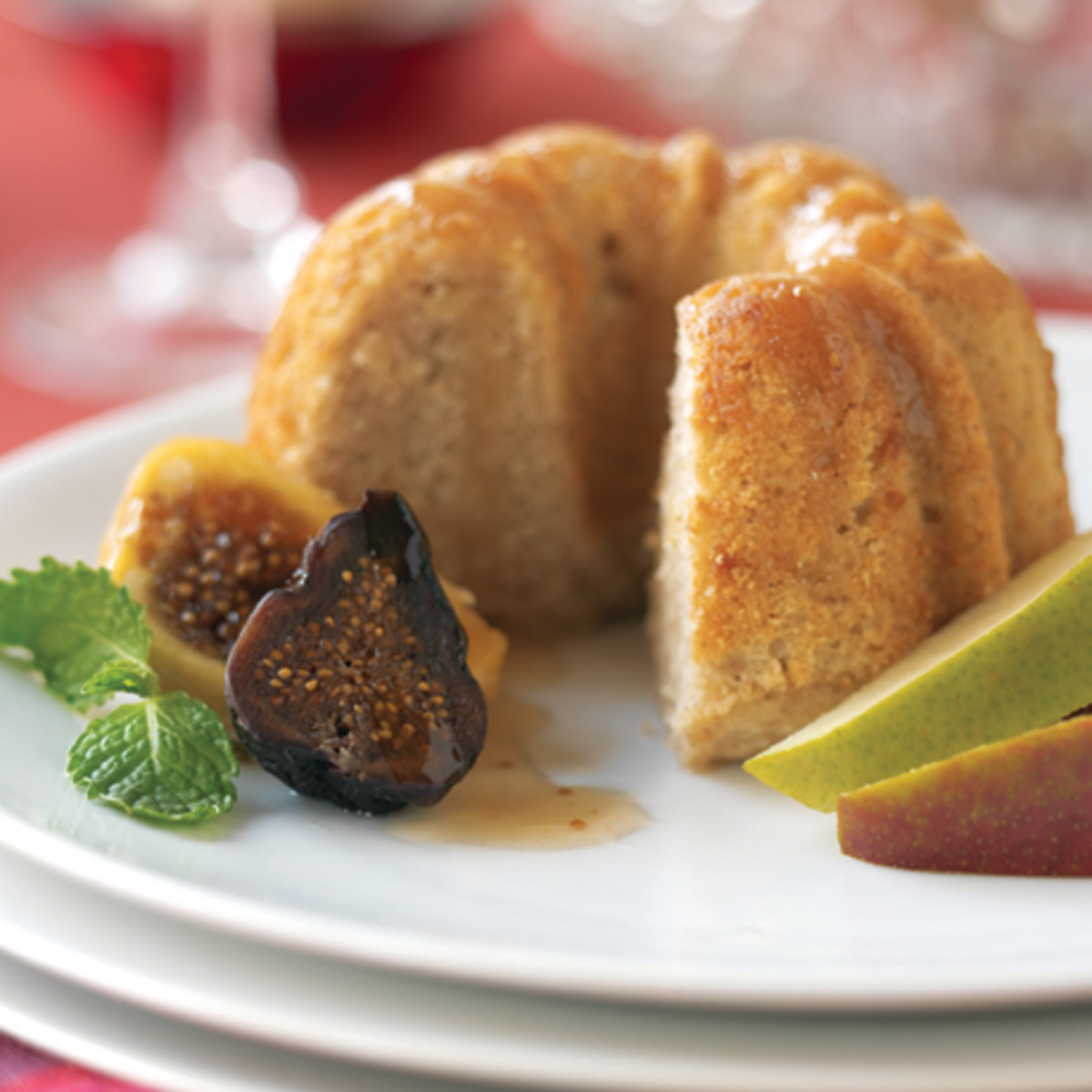 Mini Ginger Pear Cakes