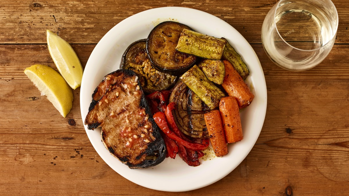 Vegan Shawarma Spiced Grilled Veggies