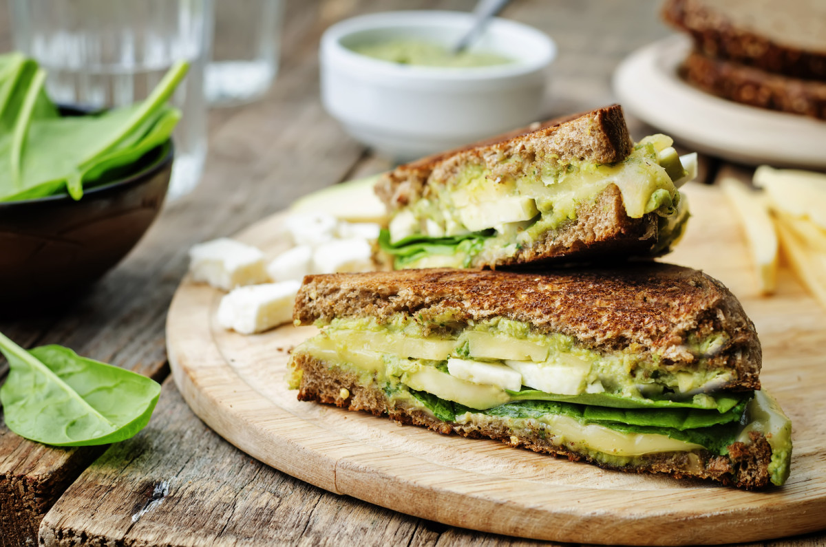 Avocado and White American Cheese Melt