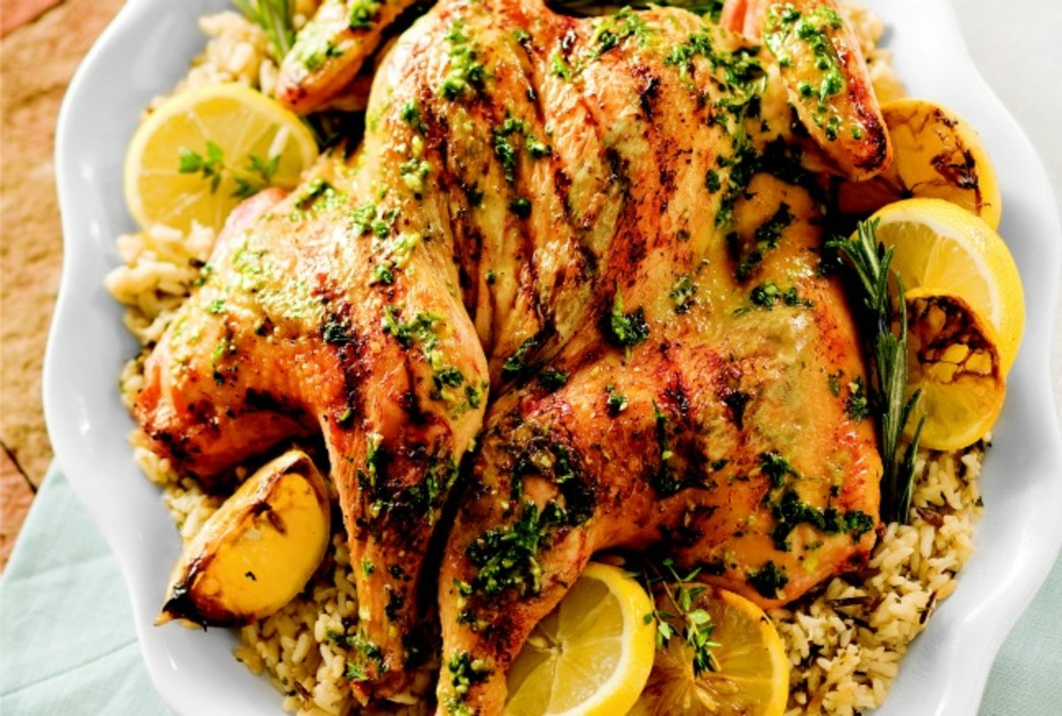 Butterflied Herb and Lemon Grilled Chicken
