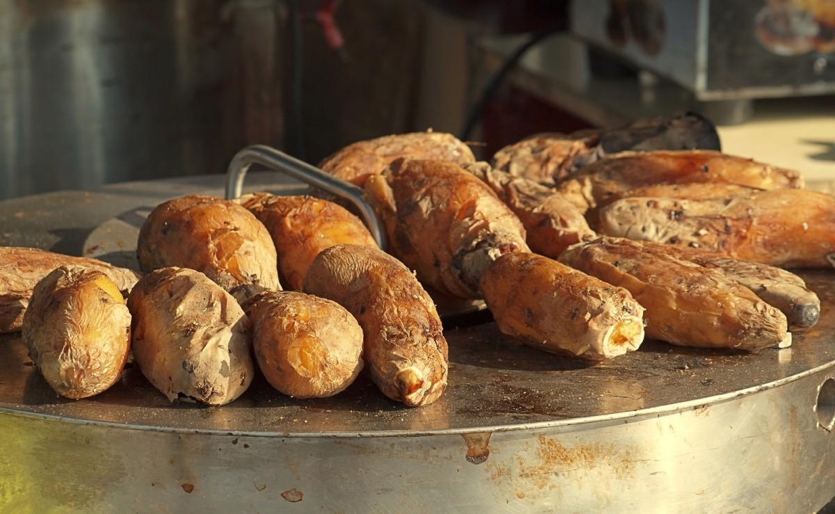 Salt Baked Sweet Potatoes