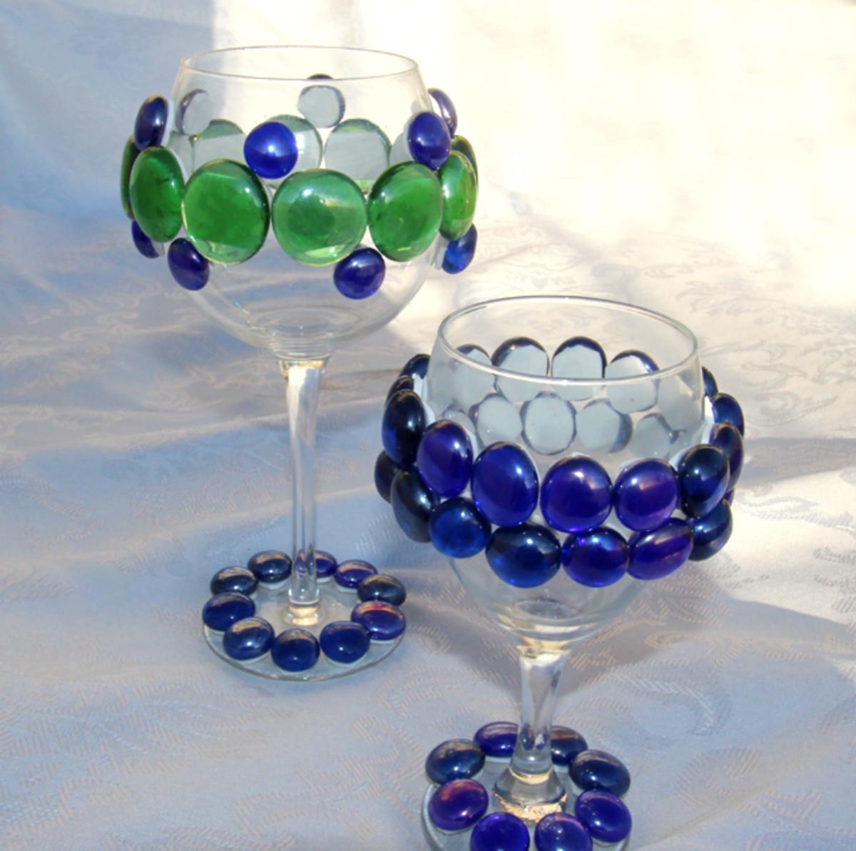 jeweled wine glass