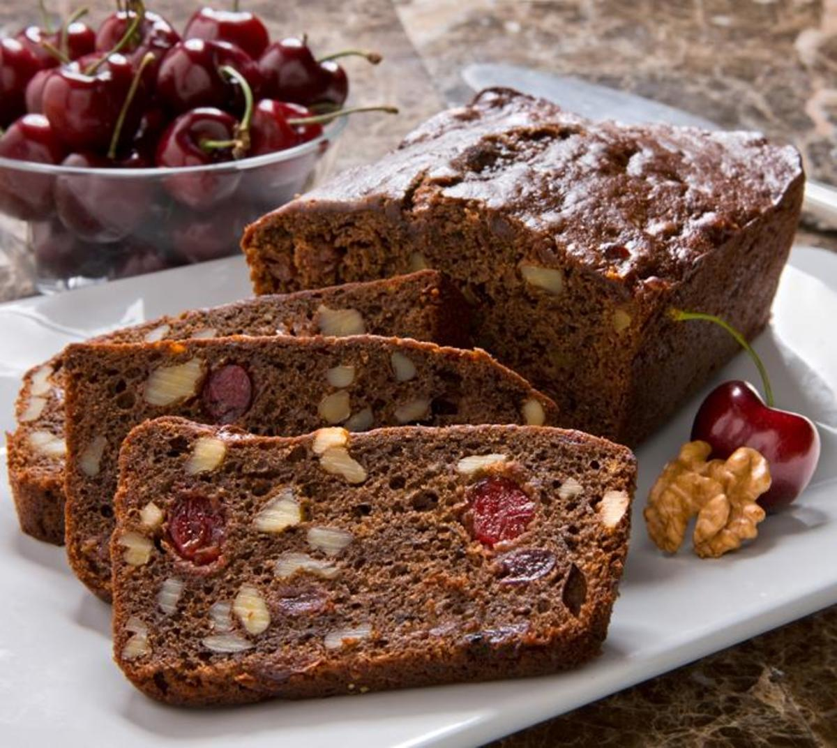 Cherry Walnut Chocolate Bread