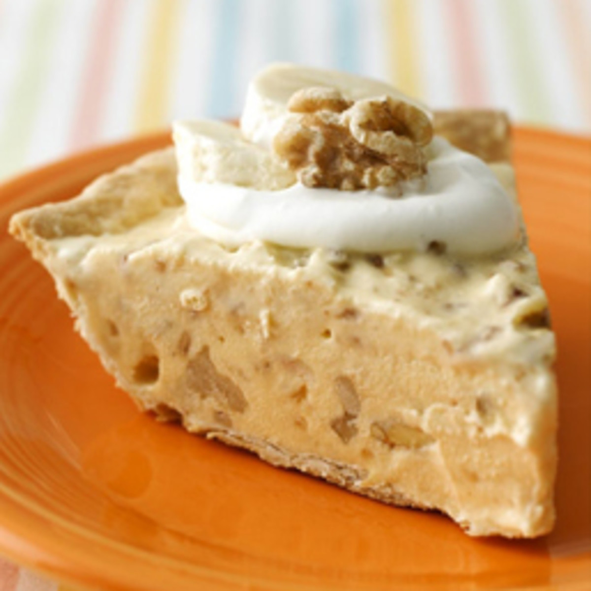 Frozen Banana Walnut Toffee Pie