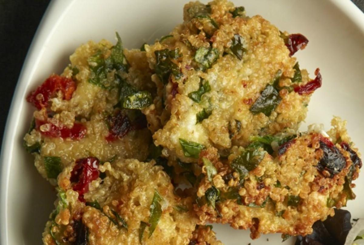 quinoa goat cheese fritters