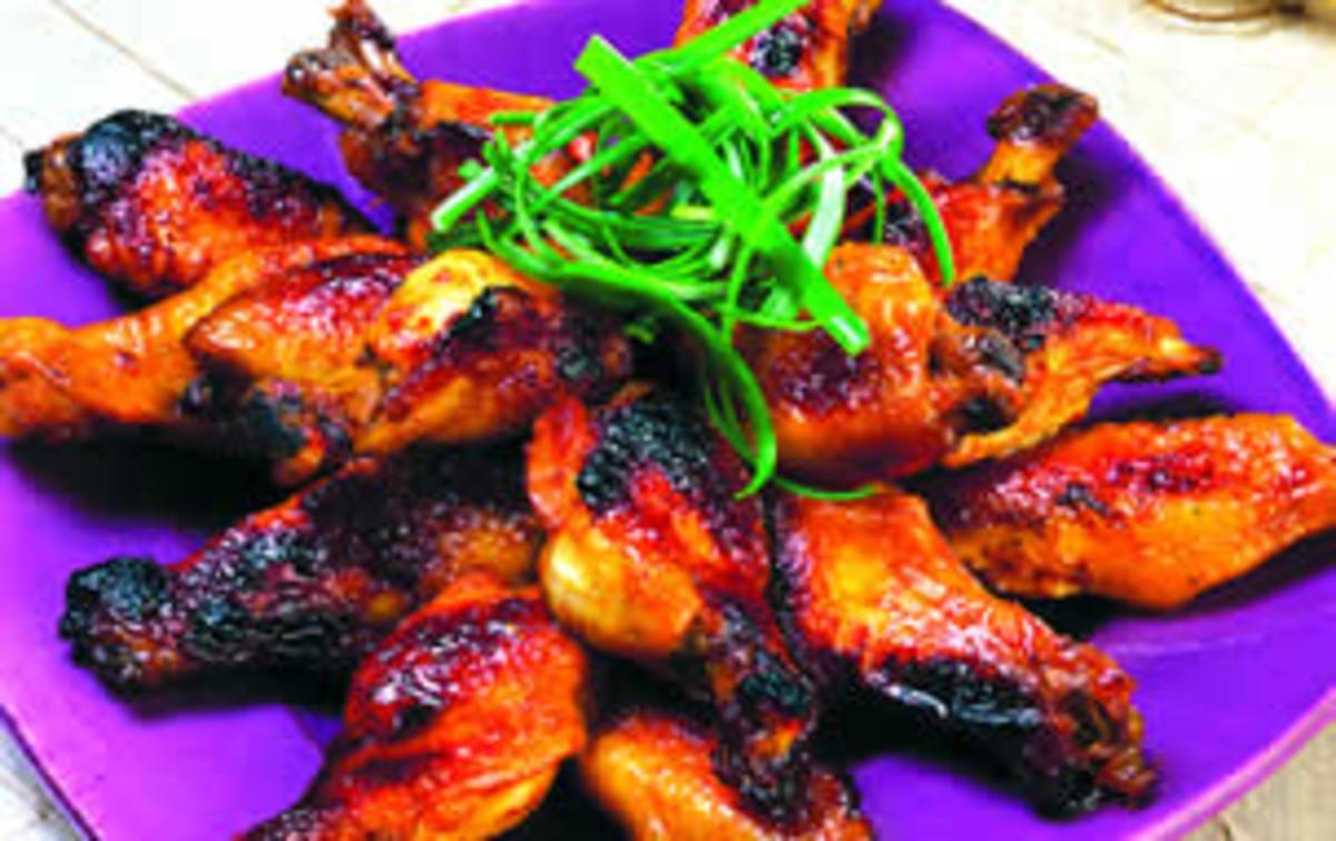 Ginger-Orange Glazed Chicken Wings