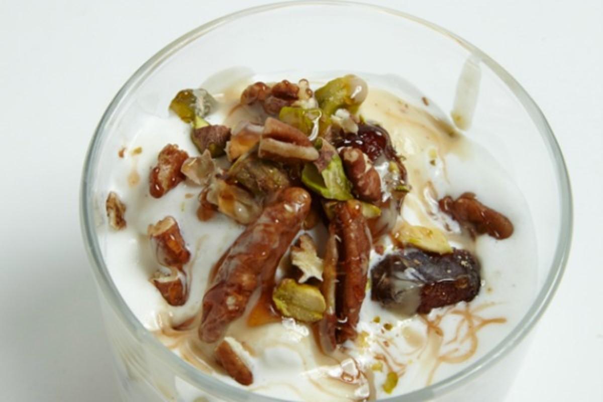 Halva-Inspired Frozen Yogurt
