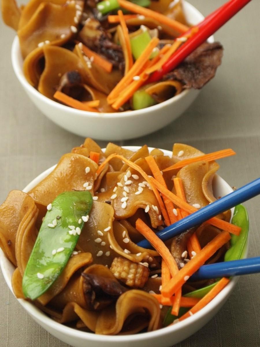 vegetarian whole grain chow fun