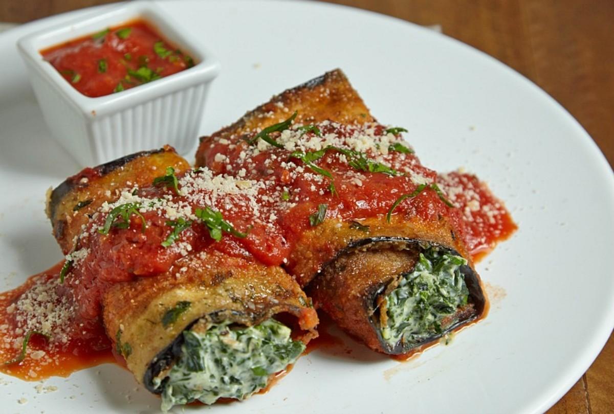eggplant roll ups recipe