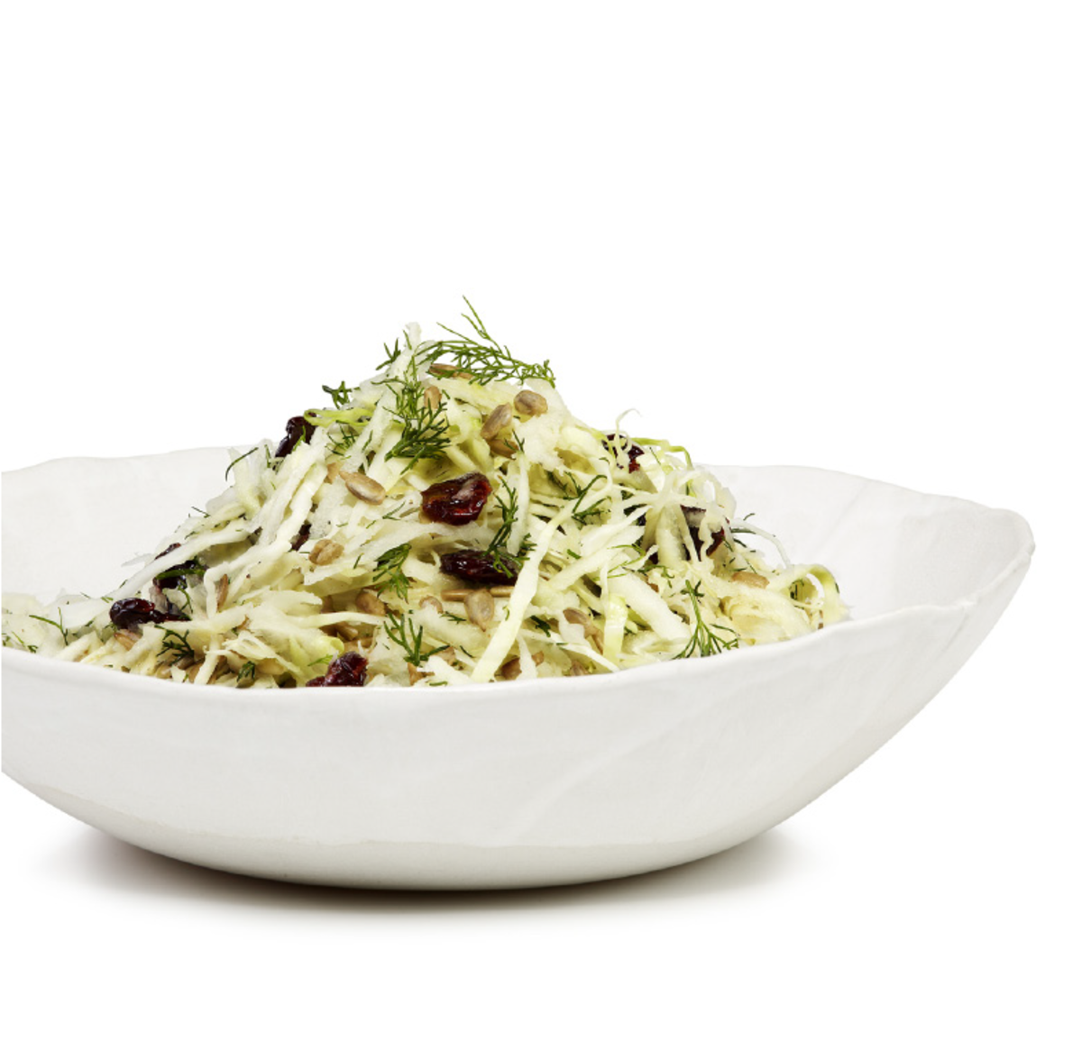 Kohlrabi and cabbage salad