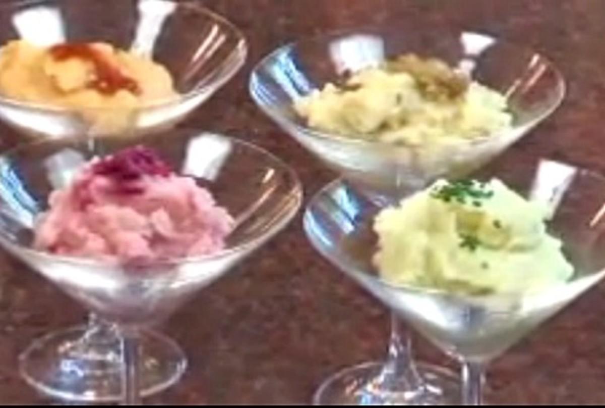Multicolored Martini Mashed Potatoes