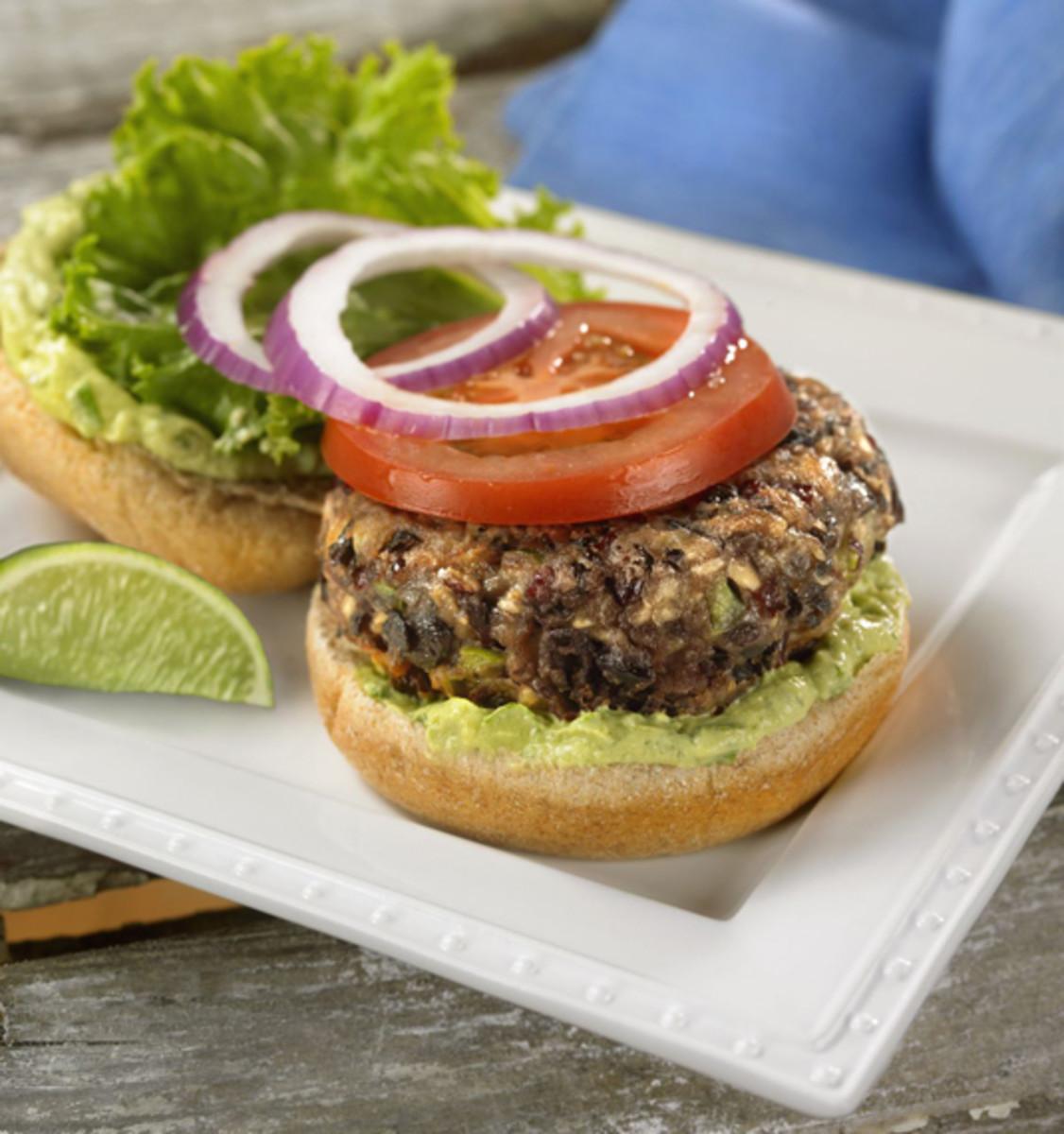 Black Bean Burgers with Avocado-Lime Mayonnaise
