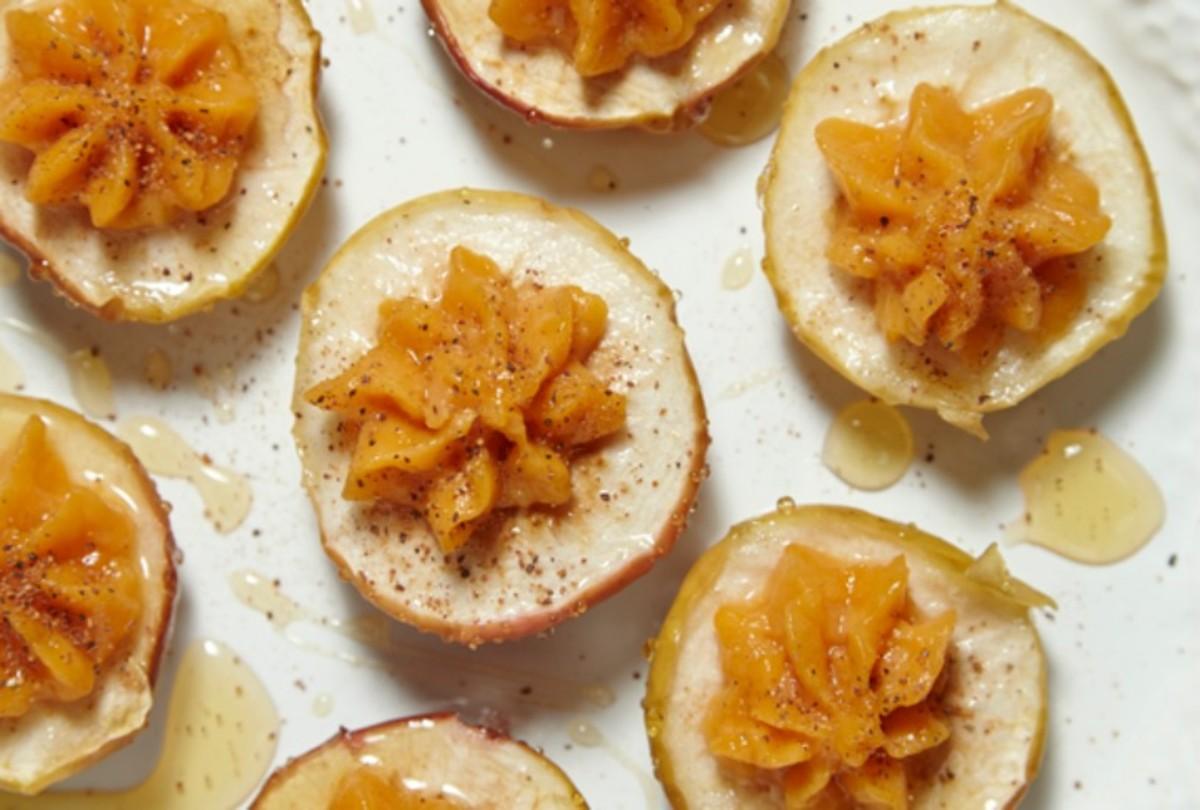 Honey Roasted Sweet Potato Stuffed Apples