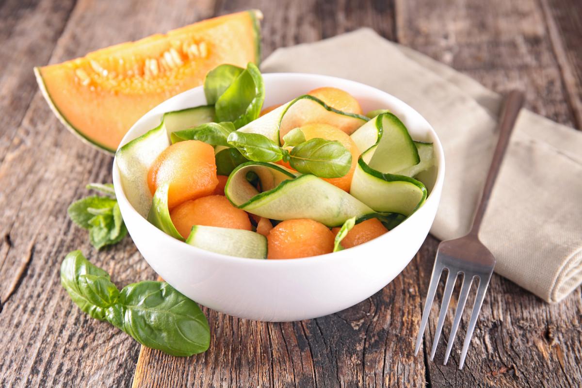 melon cucumber salad