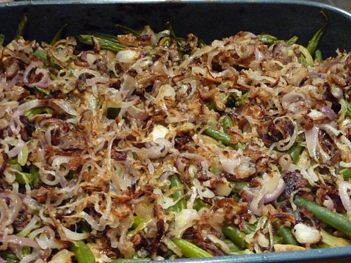 Green Beans with Shitake Mushroom Sauce