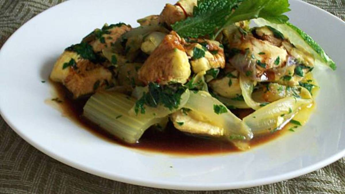 Celery and Mint Khoresh