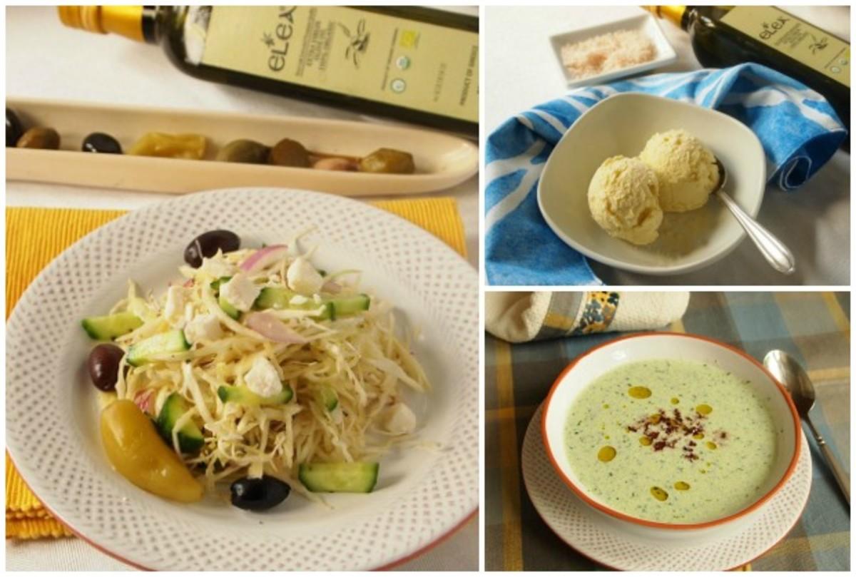 olive oil collage for Elea