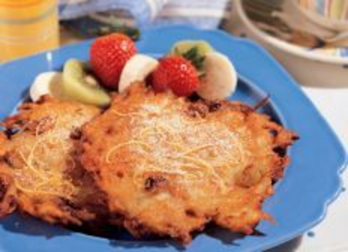 Sweet Idaho® Potato and Ricotta Latkes