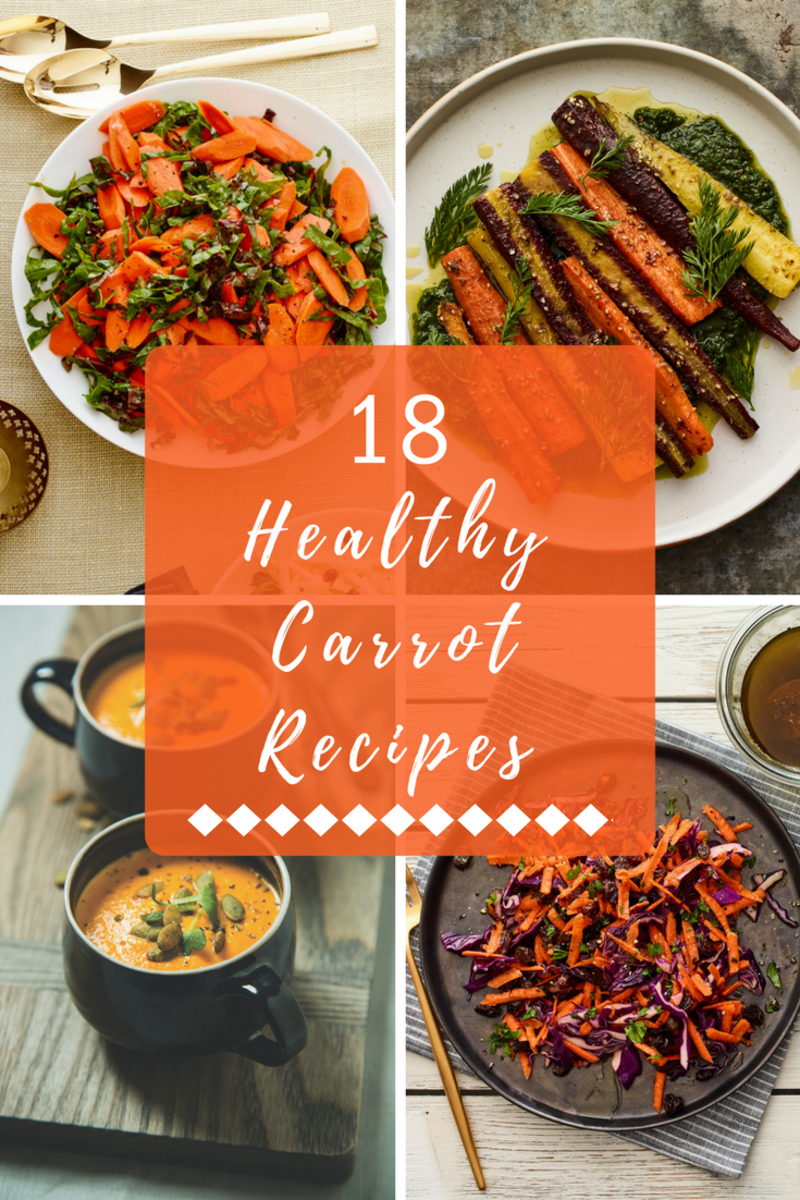 18 healthy carrot recipes pin