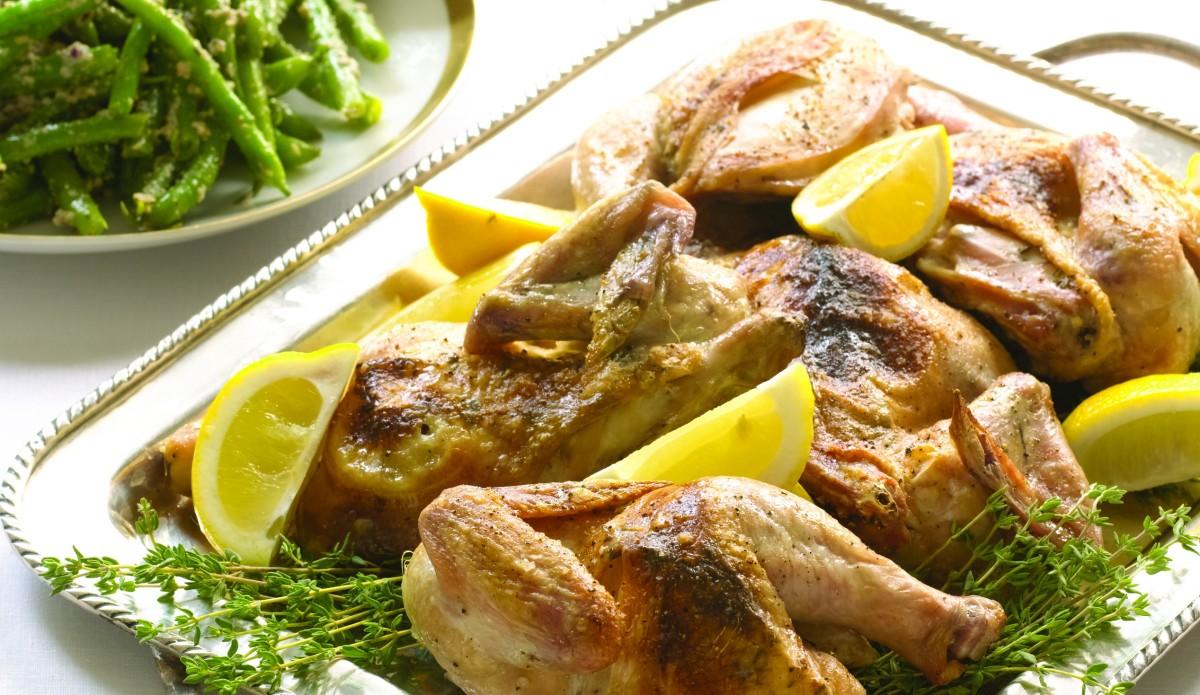 Roasted Cornish Game hens