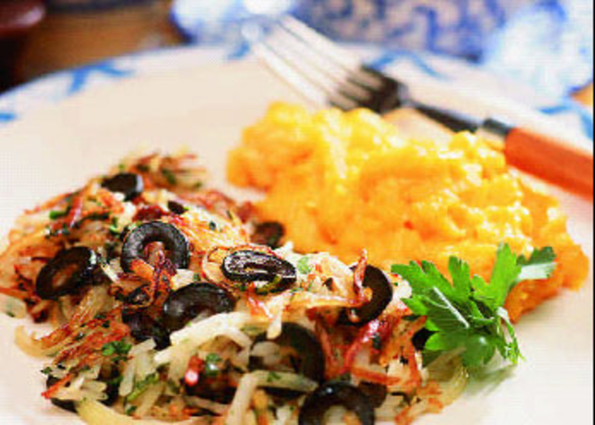 Spicy Sage and Olive Hash Browns