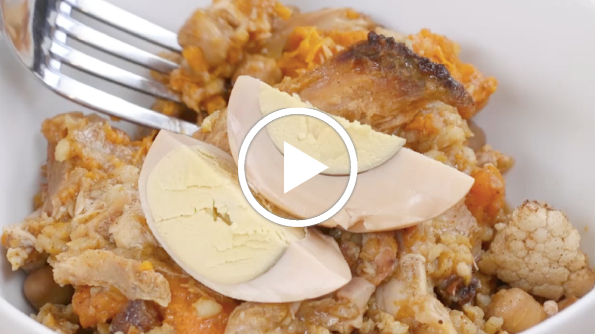 Healthy Chicken Cholent Video