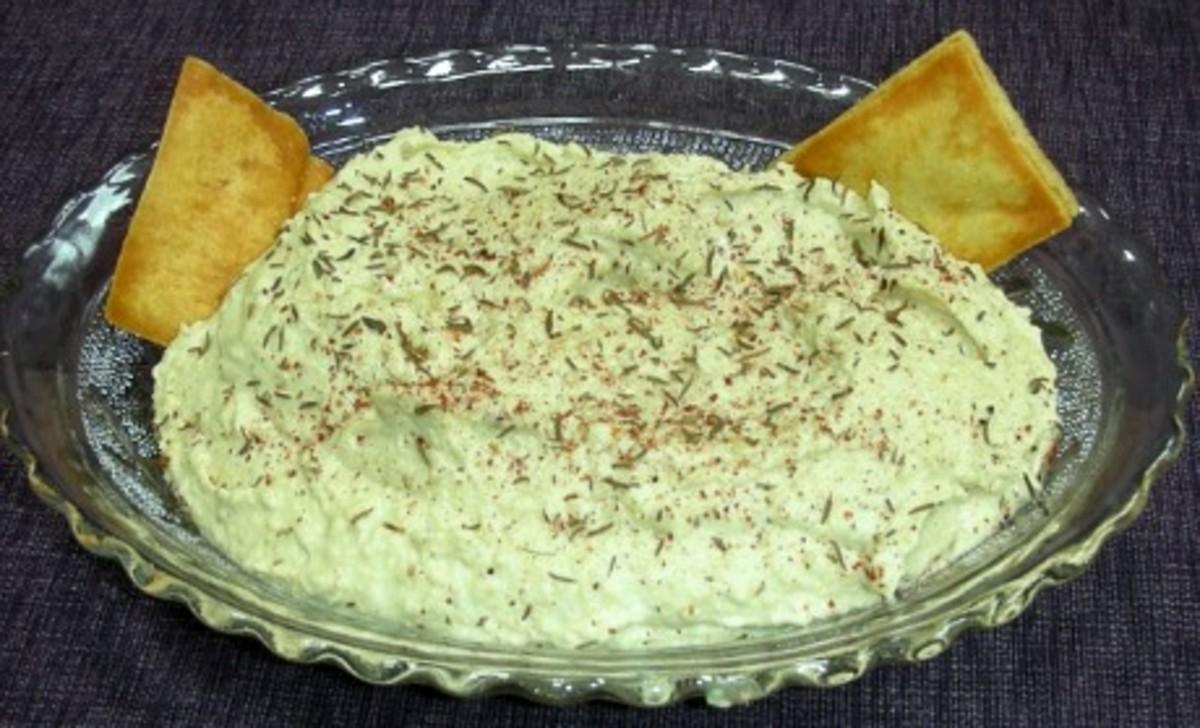Hummus with Pine Nuts and Zaatar