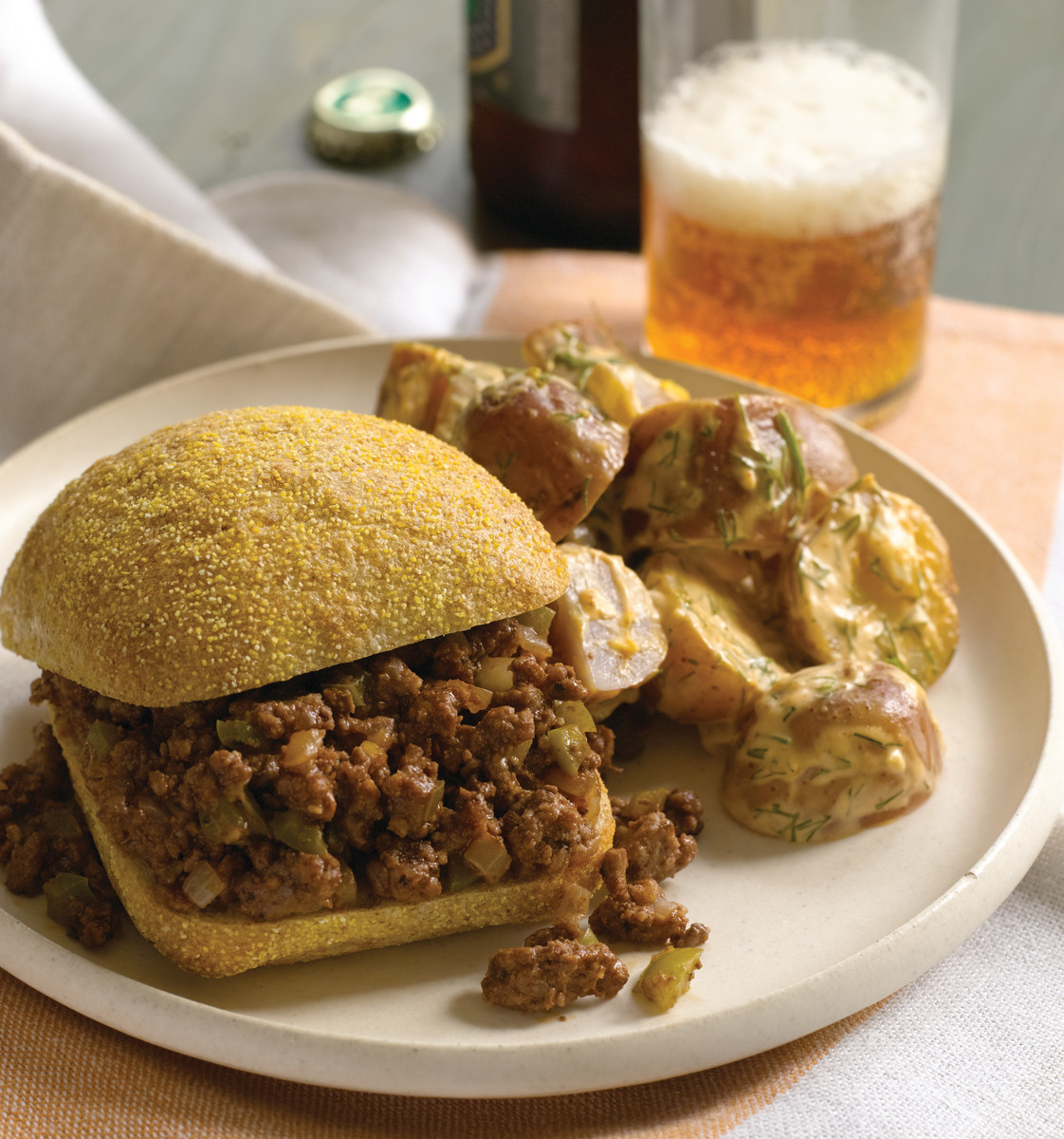 Sloppy Joes and Deviled Potato Salad
