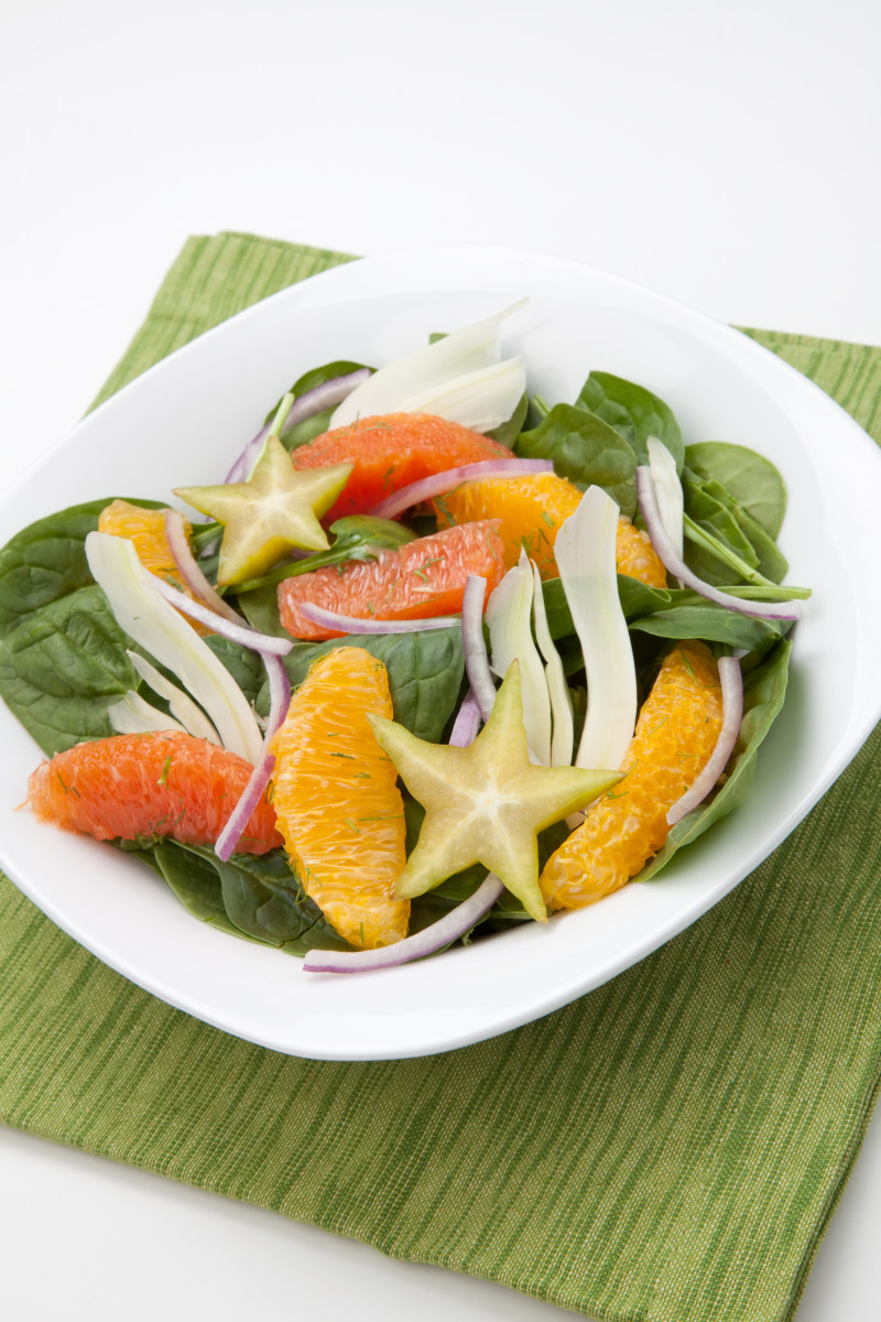 Citrus Salad with Spinach and Fennel