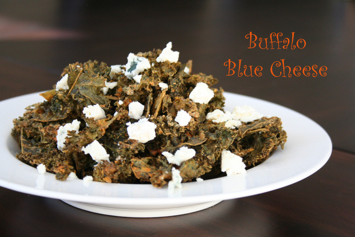 buffalo blue cheese kale chips