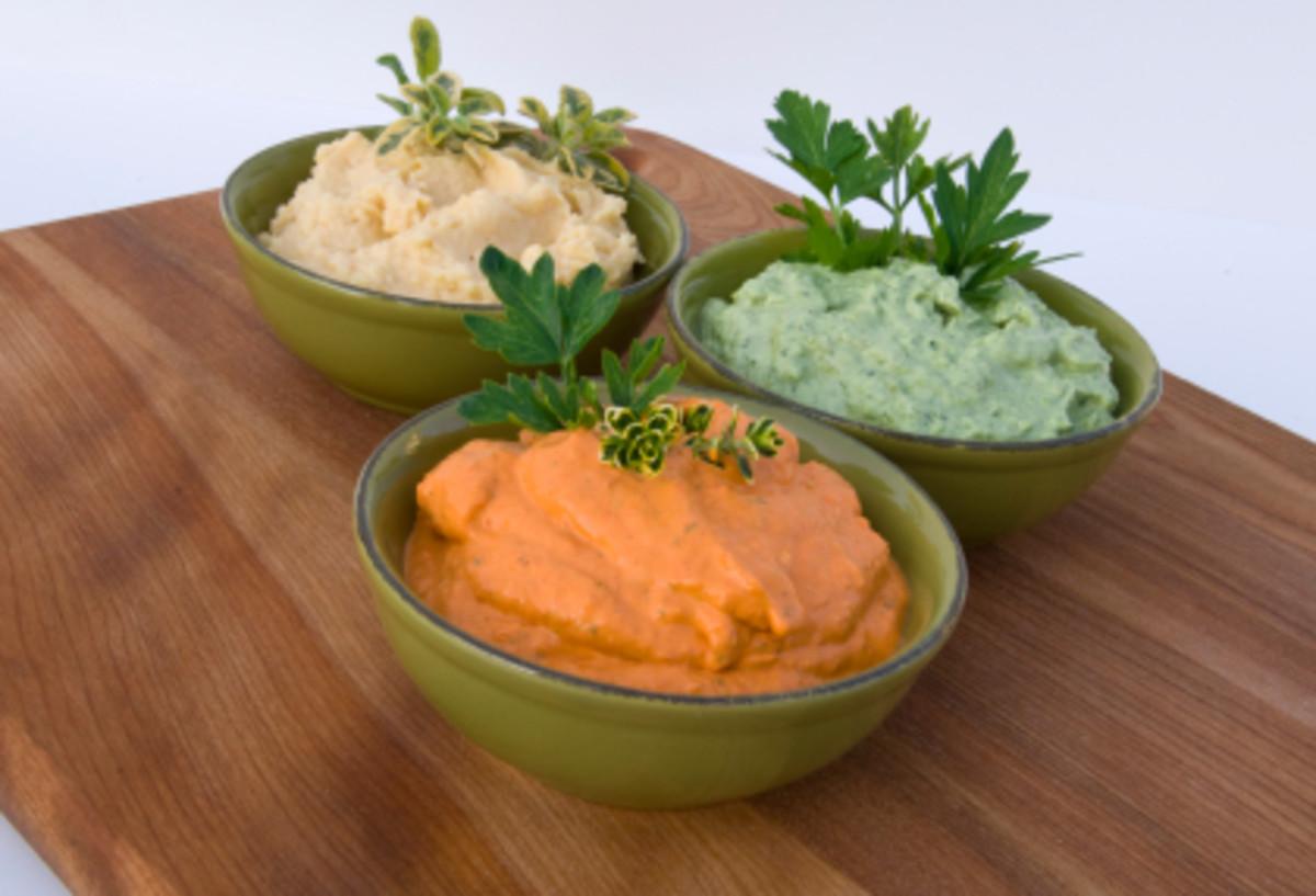 Tri-Colored Hummus