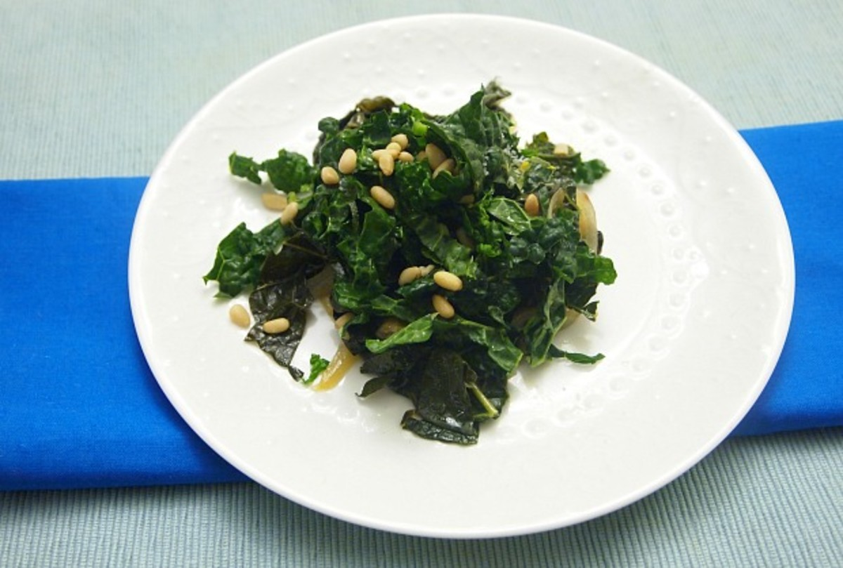 Braised and Raw Kale