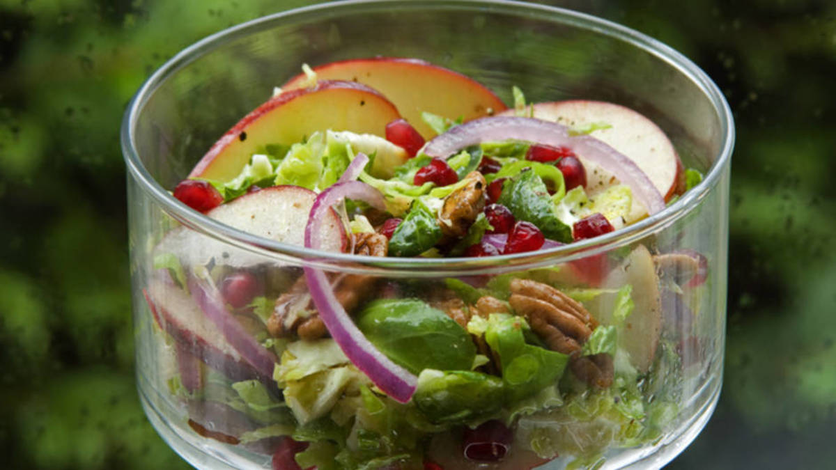 Brussels Sprout Salad with Pomegranate