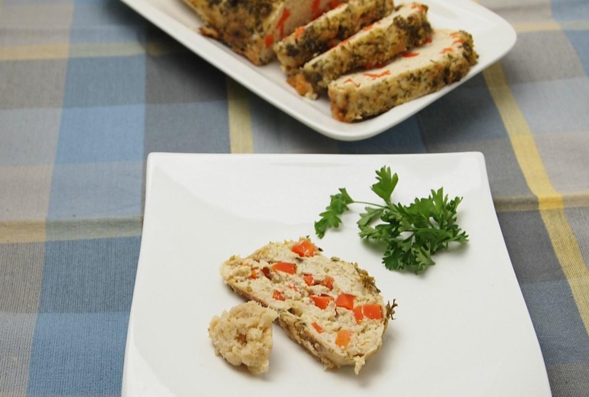 horseradish crusted gefilte fish