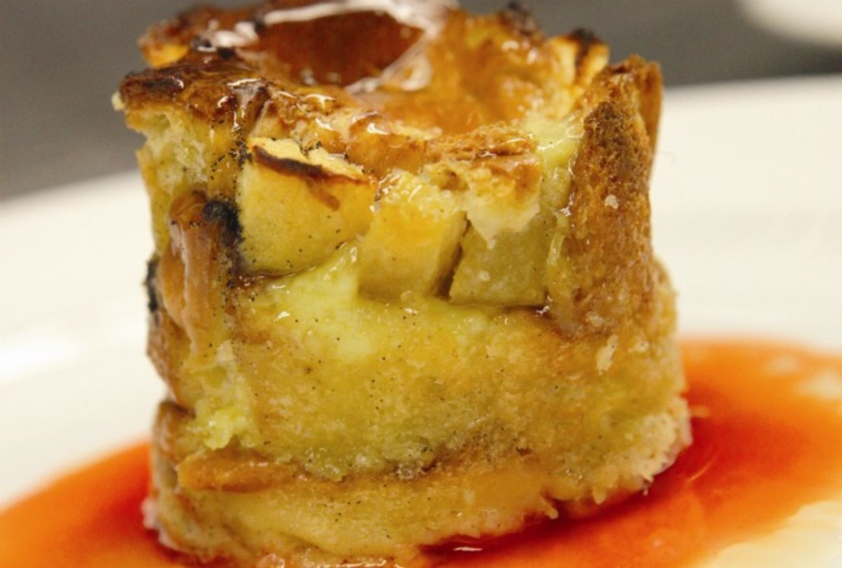 Apple and Honey Bread Pudding