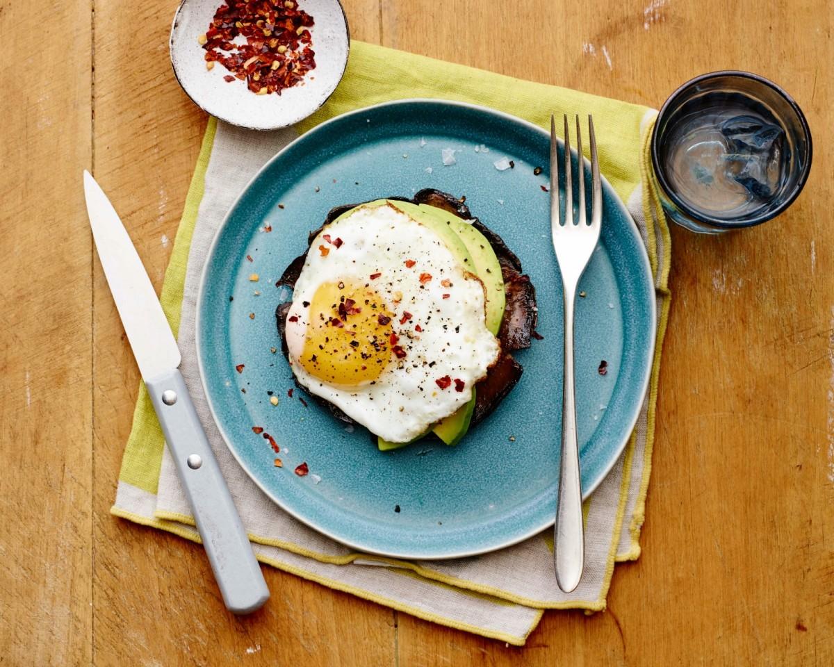 Breakfast Portobello Eggs horizontal