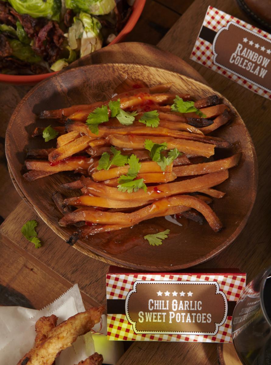 Chili Garlic Sweet Potatoes