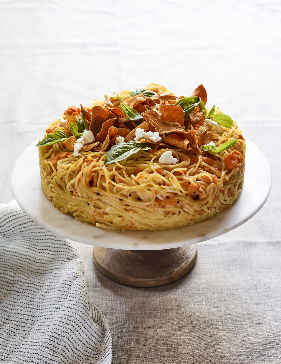 Sweet Potato Spaghetti Pie