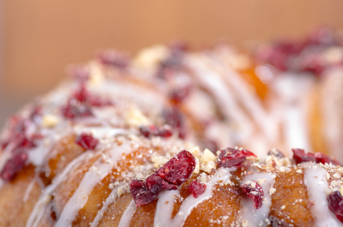 cranberry almond cake