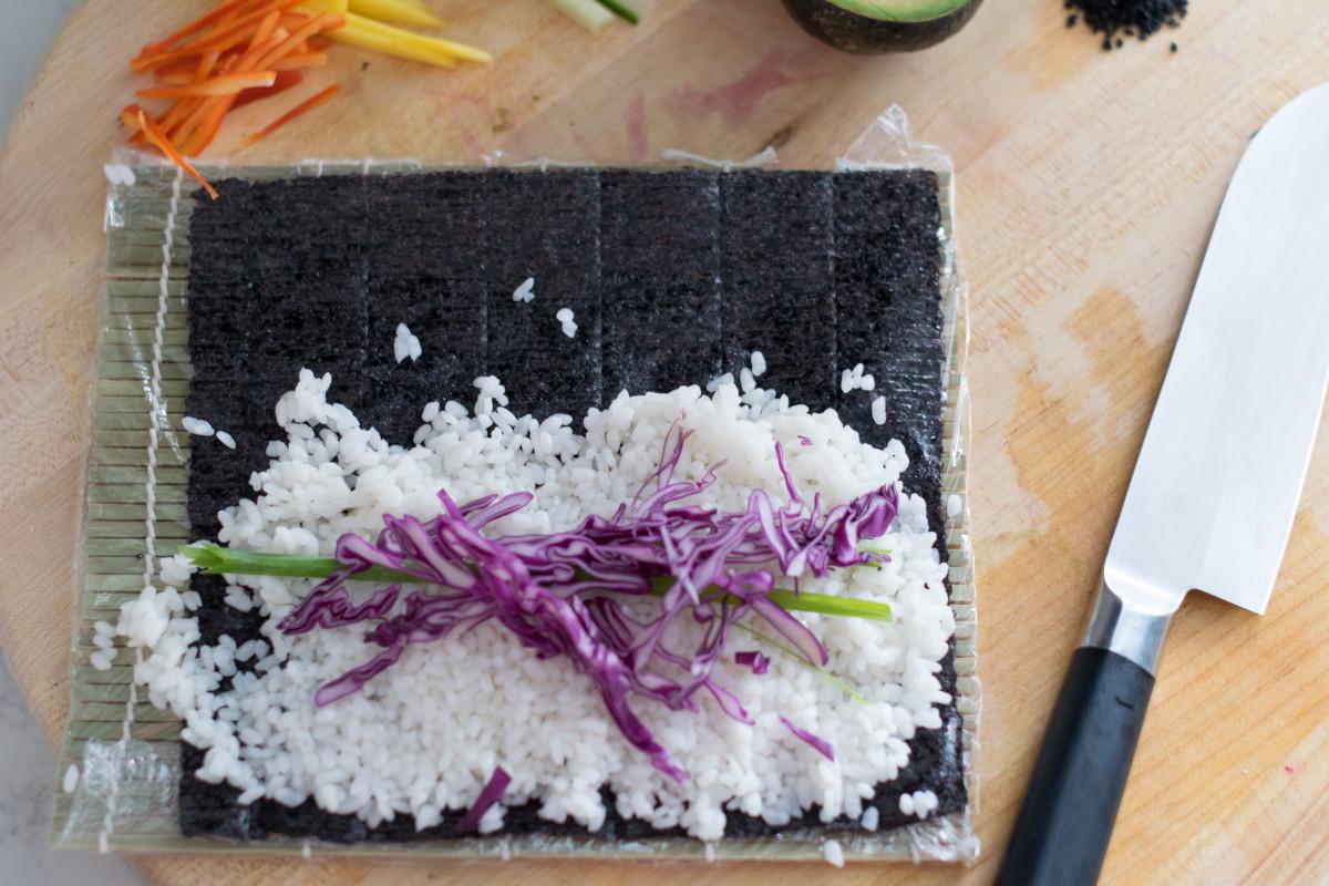 vegan sushi maki roll 2
